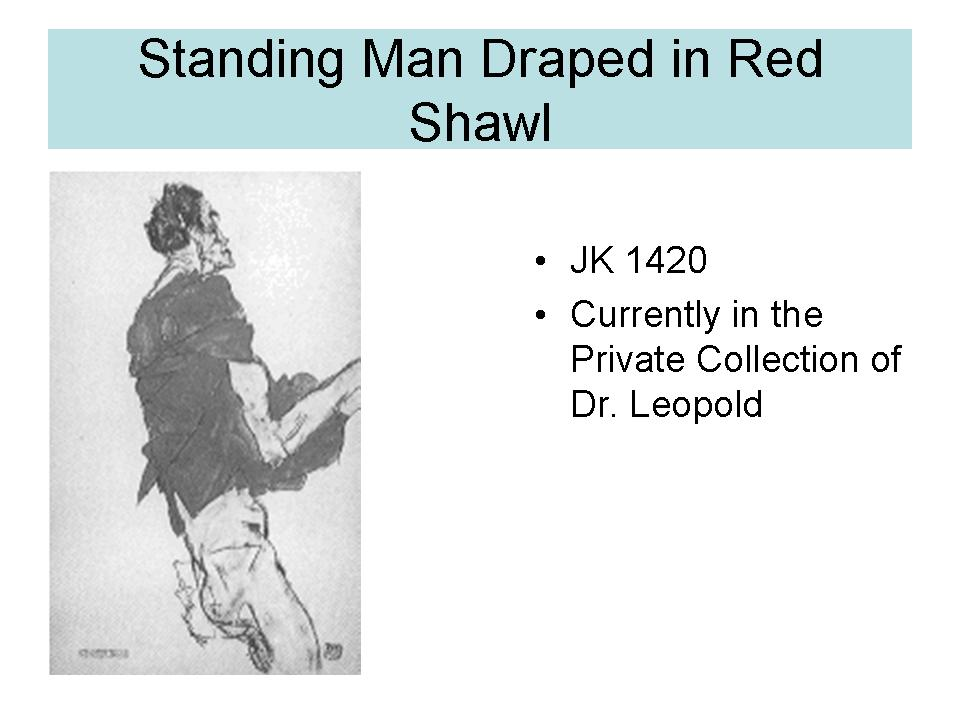 Standing Man draped in red Shawl