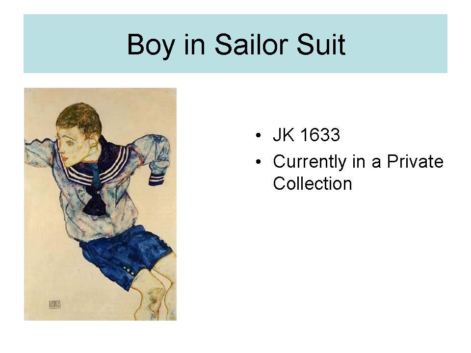 Boy in Sailor suit