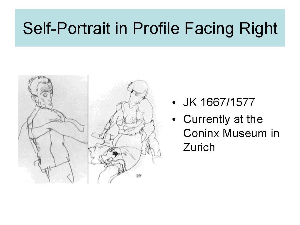 Self Portrait in Profile Facing Right
