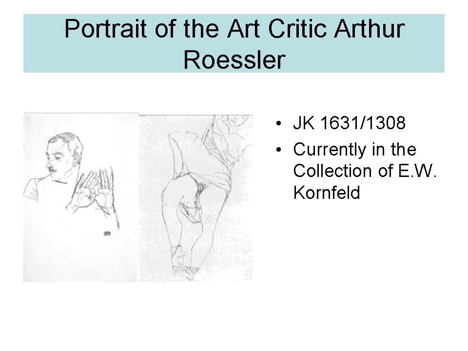 Portrait of the Art critic Arthur Roessler