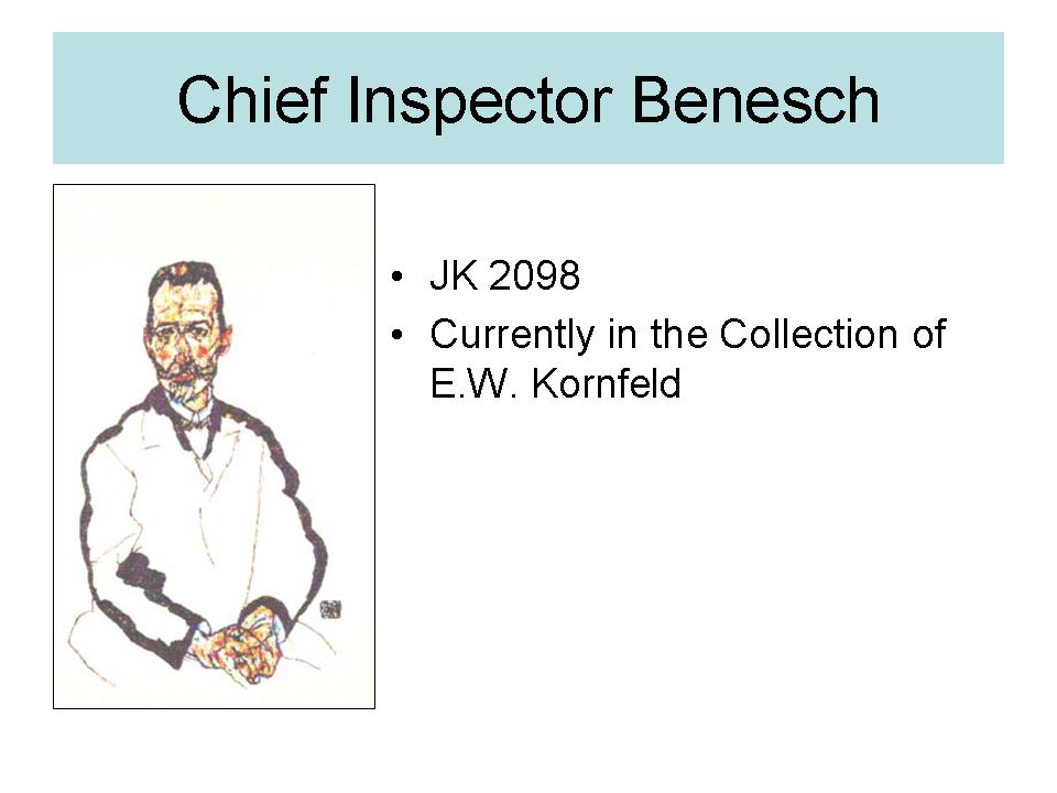 Chief Inspector Benesch